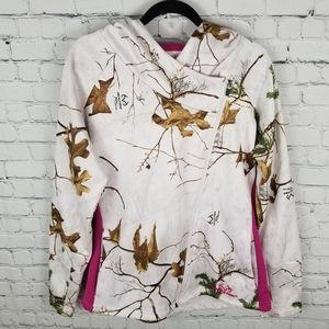 REALTREE   camo asymmetrical zip fleece jacket